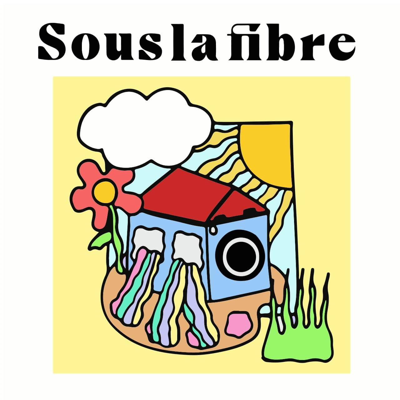 illustration figurative colorée d'une maison appareil photo